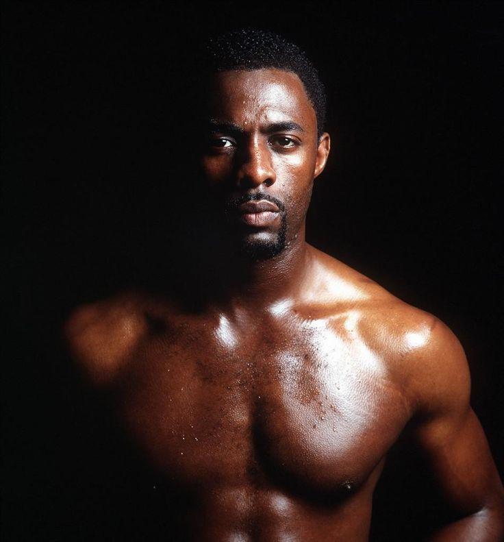 Idris Elba looking hot and sweaty...