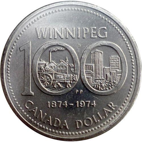 Canadian Coin Collection: 1974 - Winnipeg's Centennial