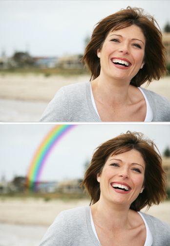 Net echte regenboog voor op je fotokaarten  / fotokaarten rainbow effect