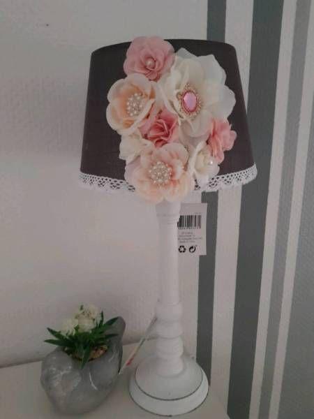 Schöne Lampe im Shabby Stil<br />Versand gegen 5Euro Aufpreis versichert per DHL,Lampe Nachttischlampe Vintage Shabby Chic Landhaus Unikat Baby in Dorsten - Dorsten