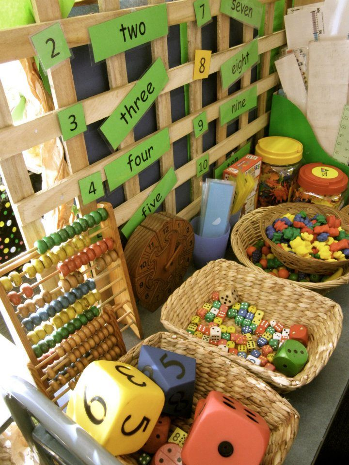 Math center - provocation space at Stockdale Road Primary School ≈≈