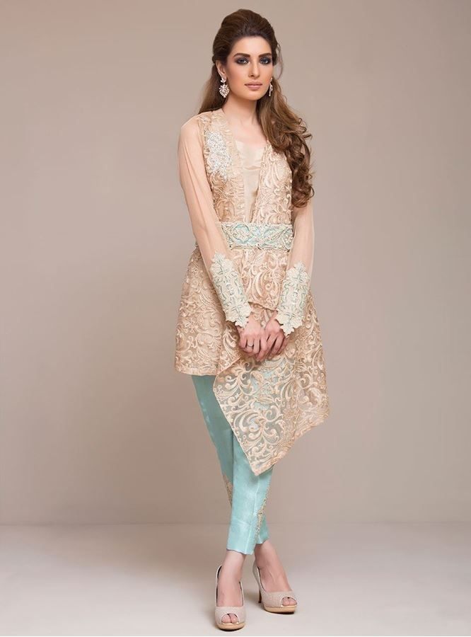 cfb18ff7ba Pin by Suman Zulfiqar on Trend | Dresses, Embroidery dress, Indian designer  wear