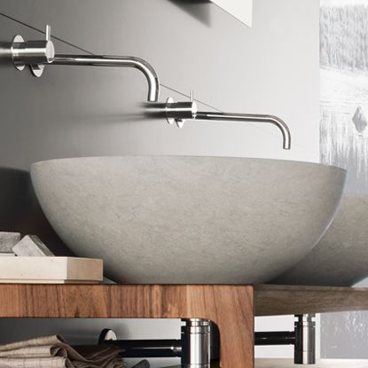 Washbasin Egg: #bathroom, #washbasins, #stone, #design, #madeinitaly,