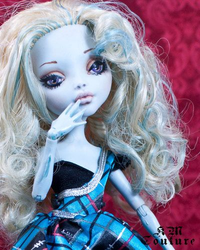"Ooak Monster High Doll Repaint ""Amelia"" BY KM Couture"