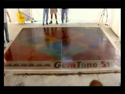 Полированный бетон Основные этапы устройства полированного бетона - YouTube