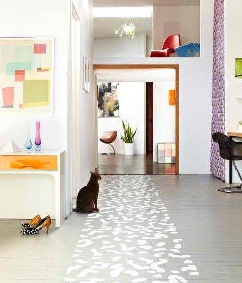 Diy painted floors diy pinterest decoraci n for Decoracion pisos normales
