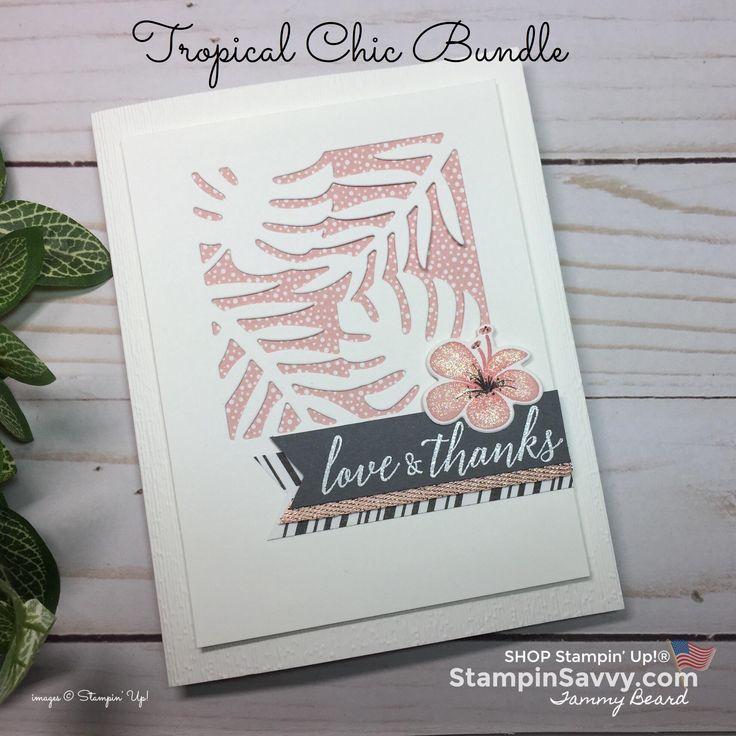 Tropical Chic Bundle: Pretty in Pink Peekaboo Card