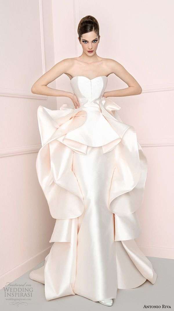 Antonio riva 2016 wedding dresses 2016 wedding dresses for Peplum dresses for weddings