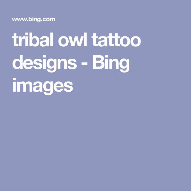 tribal owl tattoo designs - Bing images