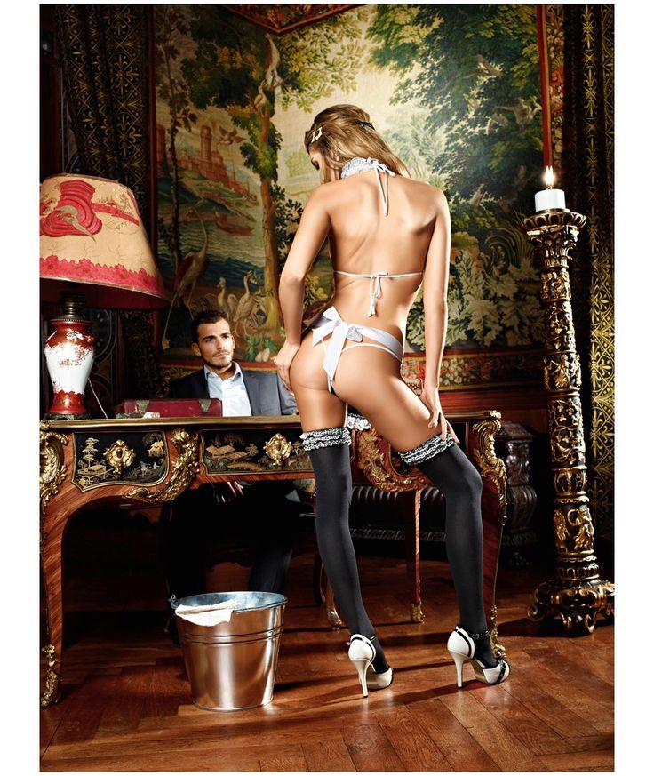 Przebranie pokojówki - Baci Service Me French Maid Set One Size