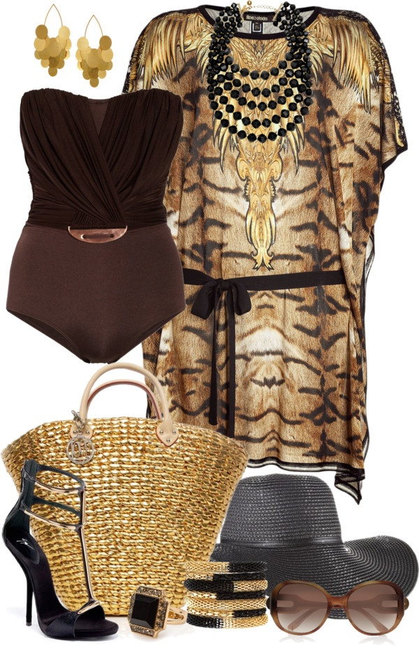 """ROBERTO CAVALLI Caftans/Kaftans"" by angela-windsor on Polyvore"