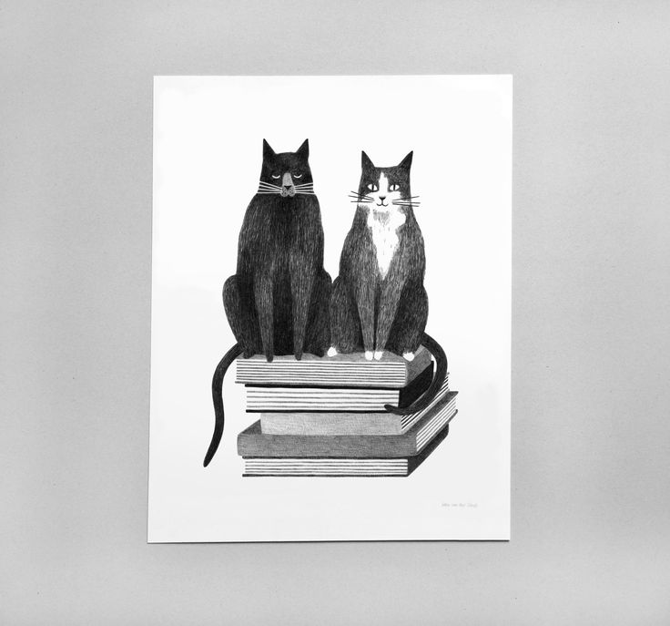 For bookstore Quist I've made a logo inspired by their two cats.