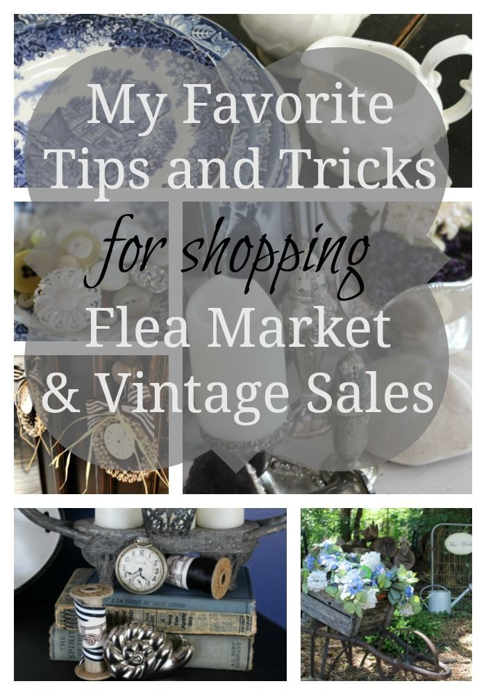 Flea market shopping can be daunting! I'm sharing my favorite tips for making the most of your vintage shopping excursions!