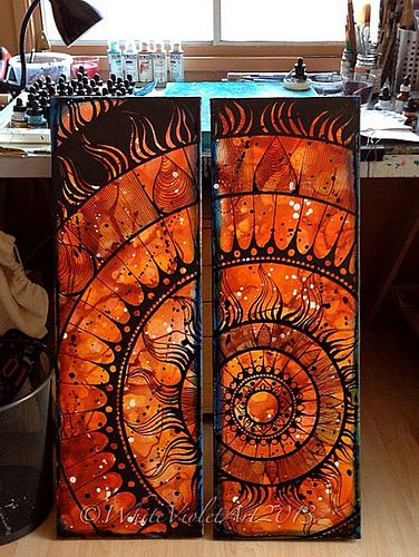 Sun Mandala - Diptych | Flickr - Photo Sharing! By Cindy Belseth