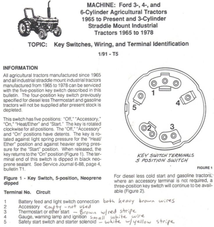 Bilderesultat For Ford 4000 Ignition Switch Wiring