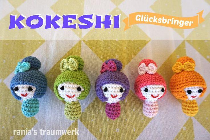 Kokeshi-Glücksbringer machen sich an jedem Schlüsselbund oder Handtasche gut und begleiten dich auf Schritt-und-Tritt!