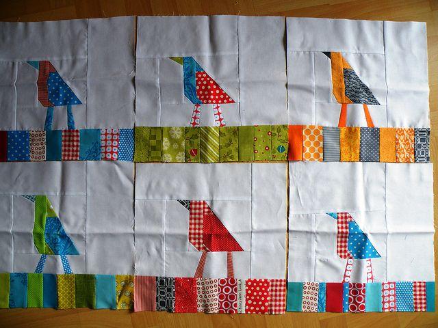 I love these little bird blocks