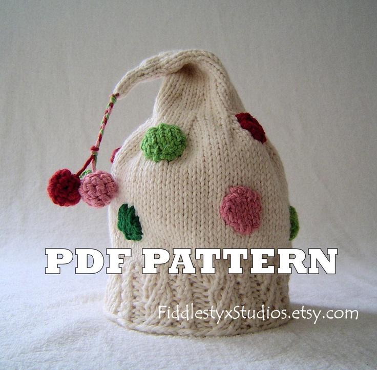 Hat Knitting Pattern - Christmas Hat Pattern - the CINDY ...