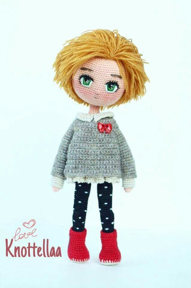 Crochet Mini Doll Pattern : 1000+ images about CROCHET DOLLS AND TOYS on Pinterest ...