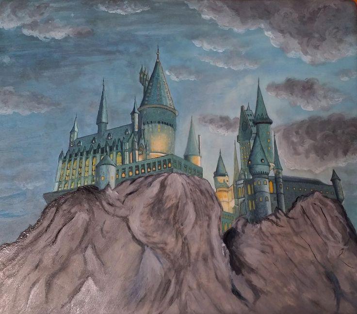 Harry Potter Hogwarts - Drawing on sugar