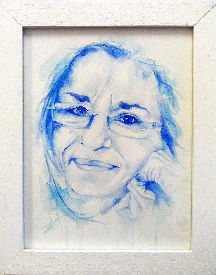 Melany's mum, watercolour portrait by Tasneem Kamies for KIN on Kloof's Mother's Day window exhibition  For more info on this exhibit- http://bit.ly/1rBb0yS  kinshop.co.za - growing local art & design
