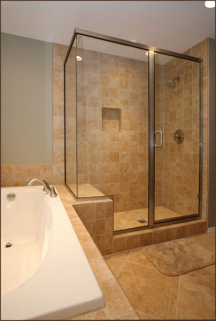 Cost to redo small bathroom - Small Bathroom Remodels Ideas With Ceramic Floor And Whall With Glass Shower Room Divider And Double