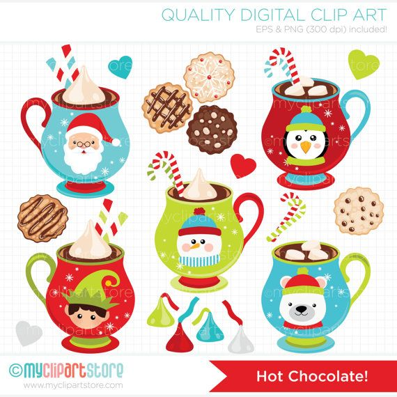 Christmas / Hot Chocolate / Winter Clip Art / by MyClipArtStore