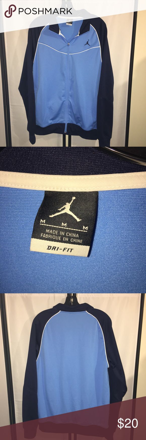 Air Jordan Jacket Zip Sweatshirt, Drifit sz M great condition but gently used. Maybe worn a couple times! Price Firm Air Jordan Jackets & Coats