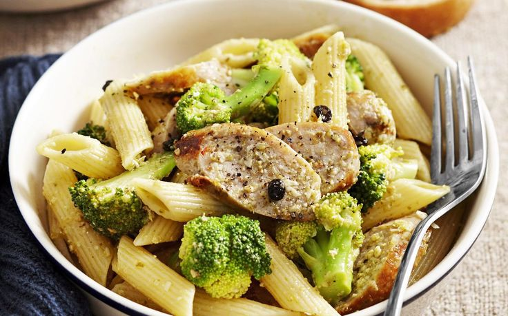 This hearty sausage pasta dish adds a taste of Italy with broccoli, parmesan and pesto. A quick meal for the family.