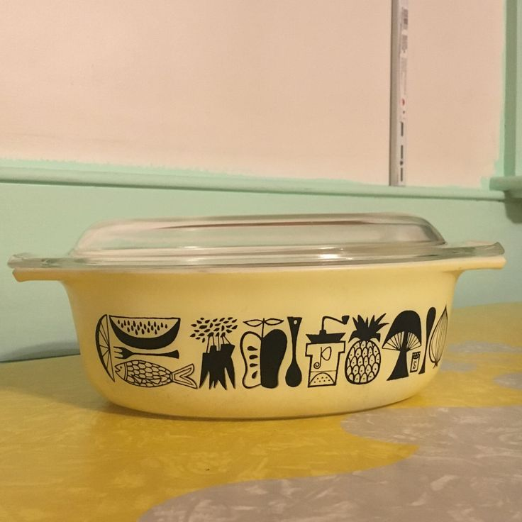 A personal favorite from my Etsy shop https://www.etsy.com/listing/491514457/promotional-pyrex-mod-kitchen-1-12-quart