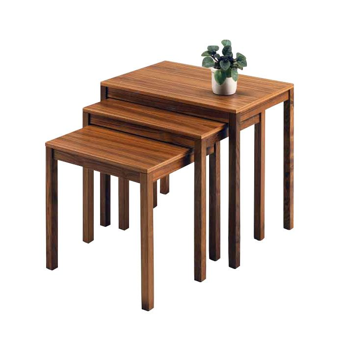 Scandinavian-Style Nesting Tables -- I want something like this to replace our out-of-date TV trays.
