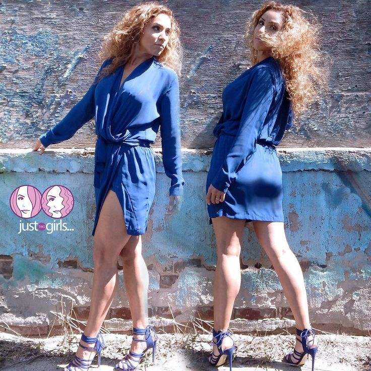 """Is it a dress ? Is it shorts? It's BOTH! """"OLIVIA"""" Indigo Blue dress with attached shorts so you can still show leg and nothing else 😳! $86.00- I'm wearing a Medium.  Online and In-store NOW !  www.justtwogirls.ca - -  #shorts #dress #onlineshopping #onlinestore #onlineboutique #justtwogirls #ootd #toronto #torontofashion #legs #legday www.justtwogirls.ca"""