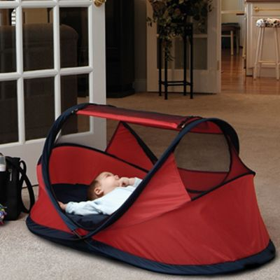 Take it to the beach, camping, overnight stays at a hotel or set it up in your livingroom.    A perfect place for nap/bed time.