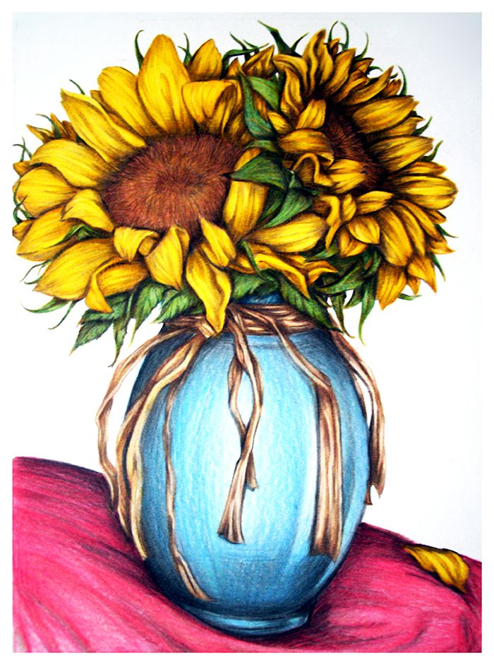 23 best images about Colored Pencil - Flowers on Pinterest ...