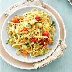 Garden Vegetable Primavera Recipe -Although I enjoy this dish throughout the year, it's even more special when I use my garden to supply the vegetables. A splash of white wine and a sprinkle of fresh basil really add flavor. I have also roasted the vegetables and mixed in chicken breasts with scrumptious results. —Carly Curtin, Ellicott City, Maryland