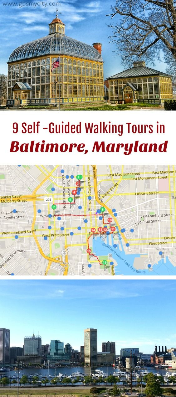 self guided walking tours in Baltimore Maryland