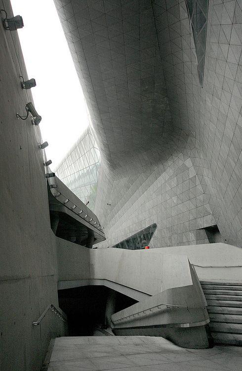 Guangzhou Opera House  Zaha Hadid Architecture. I so want to go here!