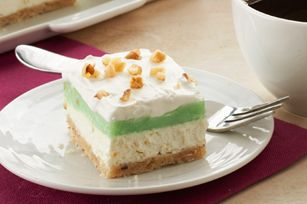 Pistachio Layered Dessert. Really yummy really easy...not a huge fan of pistachio but next time will use chocolate!