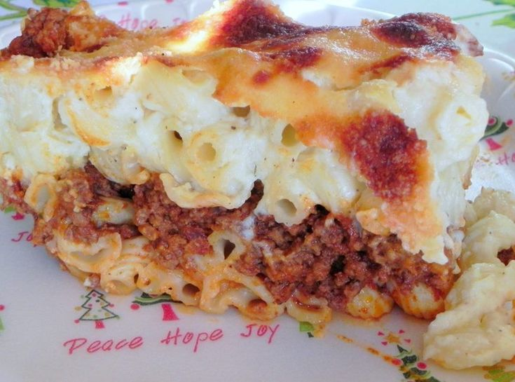 Pastitsio (Greek Lasagna) With Greens Recipe — Dishmaps