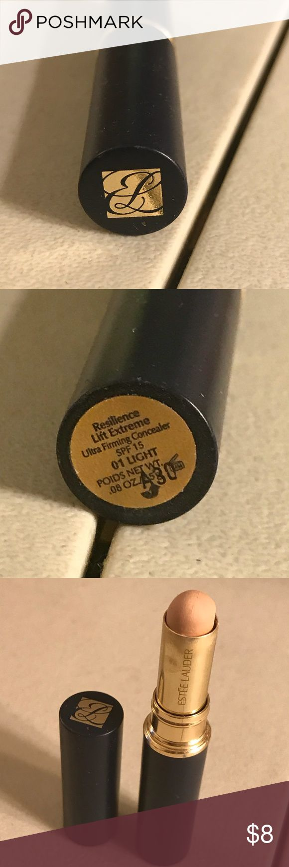 Estée Lauder resilience lift extreme concealer Estée Lauder resilience lift extreme ultra firming concealer spf 15 in color 01 light, used. Thanks for checking out Luxury1cosmetics!! Offers are welcomed, bundles are discounted!! Estee Lauder Makeup Concealer
