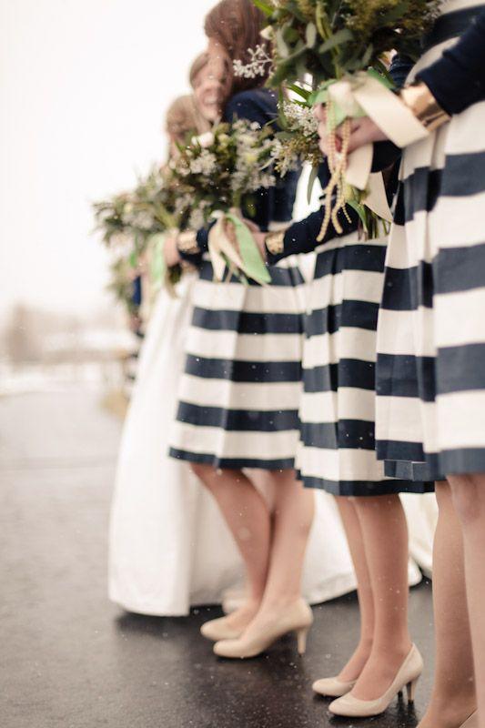 Chic black & white bridesmaids dresses   Photo by EK studios