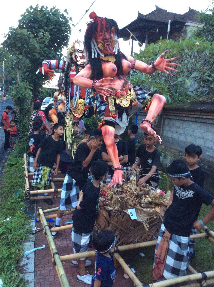 Ogoh Ogoh Nyepi Day Bali