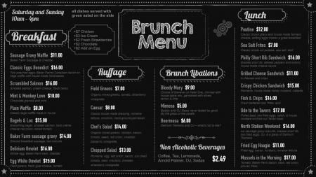 Brunch chalk board menu | Digital Signage Template