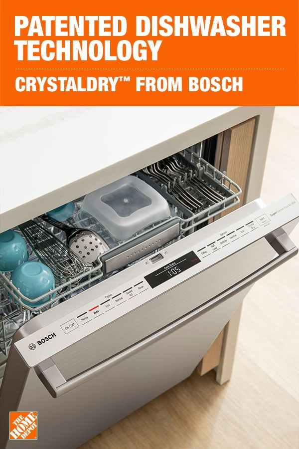 Bosch 800 Series 24 In Stainless Steel Top Control Tall Tub Dishwasher With Stainless Steel Tub Crystal Dry 42dba Shpm78z55n The Home Depot Steel Tub Bosch Top Control Dishwasher
