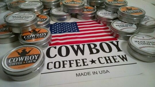 USA MADE Cowboy Coffee Chew & MLB Dip