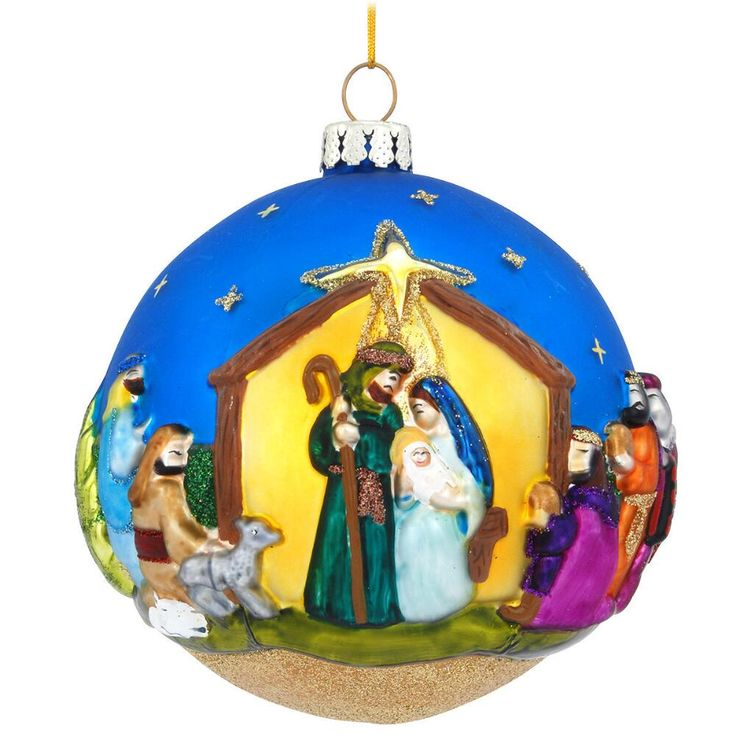 Nativity At Night Glass Ball Religious Christmas Ornament: 10 Best Meaningful Christmas Ornaments Images On Pinterest
