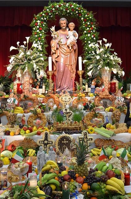 Today is La Festa di San Giuse. Happy St. Joseph's Day. One of the elaborate altars, New Orleans.