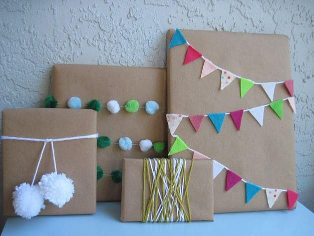 Here's some fun ways for the kids to decorate wrapped gifts.