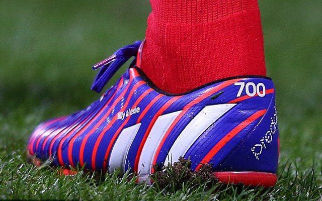 Gerrard's 700 appearances boots