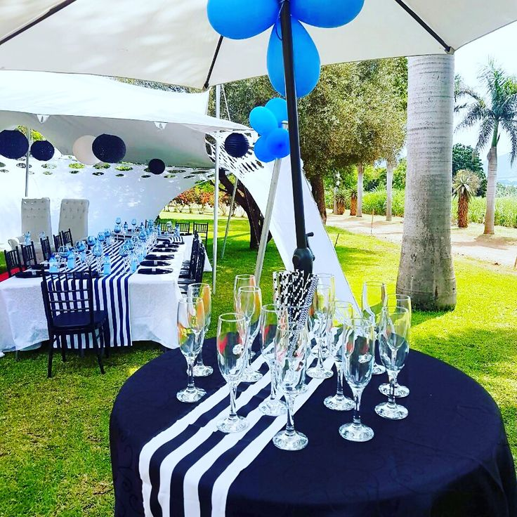 Navy Blue White And Gray Bedroom: Black, Navy Blue And White Party Decor @ShongaEvents